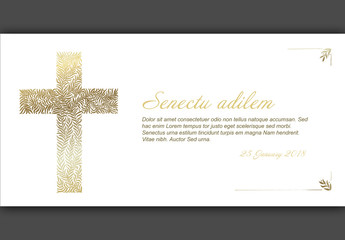 Funeral Card Layout