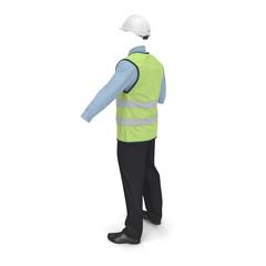 Port Engineer Uniform With Hardhat 3D Illustration