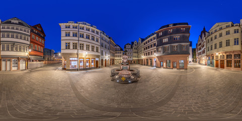 Oldtown Frankfurt 360 full spherical Panorama 1