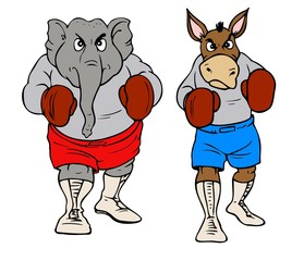 Republicans and Democrats ready to fight.