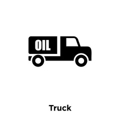 truck icon vector isolated on white background, logo concept of truck sign on transparent background, black filled symbol icon
