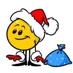 Santa Smiley Christmas Character cartoon illustration isolated image