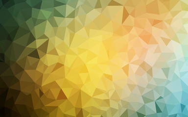 Light Green, Yellow vector abstract polygonal template.