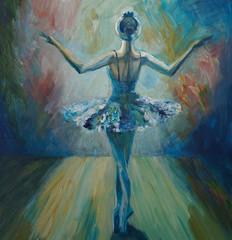 Baleriny Malarstwo akrylowe i pełne spektrum na płótnie i tekturze twórczej malarstwa artystycznego - 224603432
