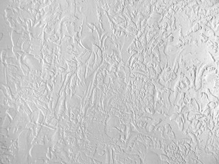 White textured wall close up.