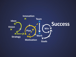 Success 2019 blue background vector