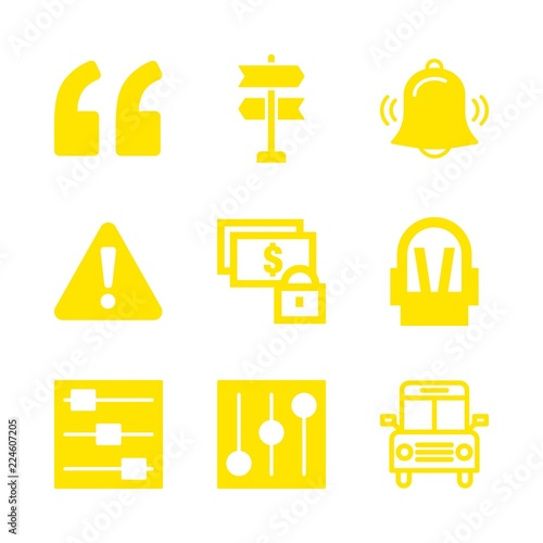9 Safety Icons With Alarm And Baby Car Seat In This Set