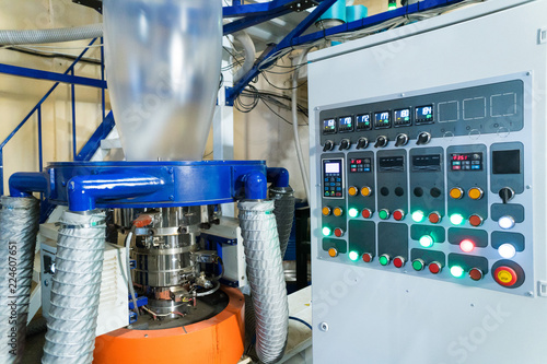 Blown film extrusion plastic bag making machine