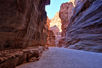 Al Siq Gorge in the Petra Ancient City, Jordan