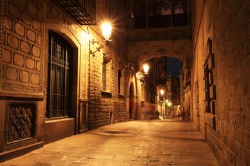 Bridge Between Buildings in Barri Gotic Quarter, Barcelona