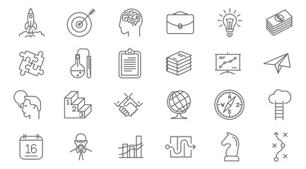 business process icon set