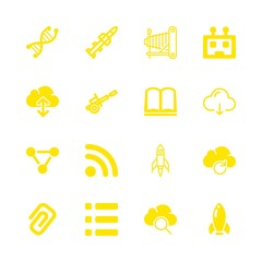 3d icons set with cloud computing, list of three items with squares and lines and dna chain science symbol vector set