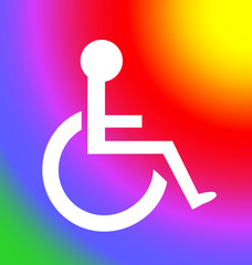 Colorful Disabled Icon: Follow the Sun
