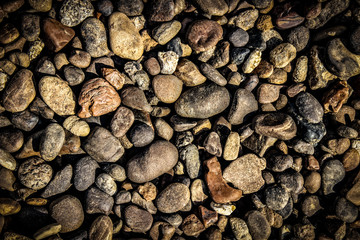 the texture of small stone pebbles
