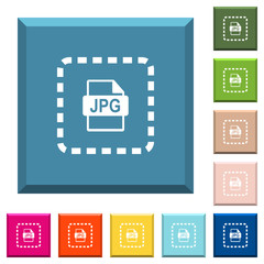 Place jpg file white icons on edged square buttons