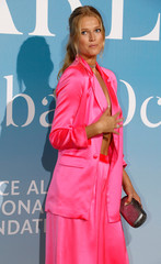 Model Garrn poses upon her arrival for the Monte-Carlo Gala for the Global Ocean in Monaco