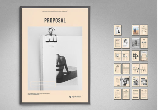 Business Proposal Layout with Tan Accents