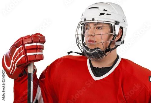 Portrait Of Ice Hockey Goalie Isolated On Transparent Background