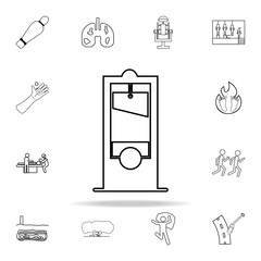 Guillotine icon. Death icons universal set for web and mobile