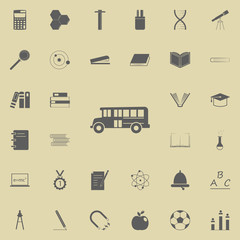 school bus icon. Education icons universal set for web and mobile