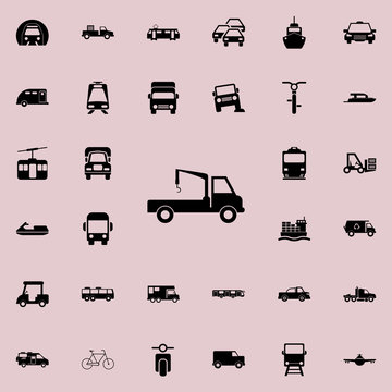 wrecker icon. transport icons universal set for web and mobile