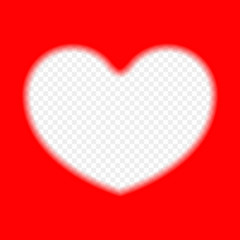 The red frame in the shape of a heart on isolated background. Vector design element template. Valentine's day card, recognition, congratulations.