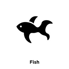 Fish icon vector isolated on white background, logo concept of Fish sign on transparent background, black filled symbol
