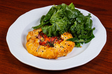 Galette with salmon