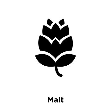 malt icon vector isolated on white background, logo concept of malt sign on transparent background, black filled symbol icon