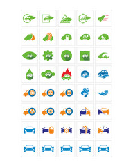 automotive car icon image vector symbol logo set
