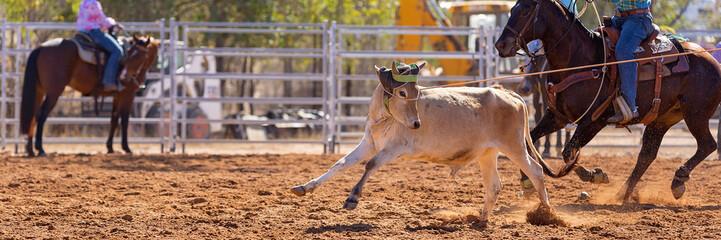 Australian Team Calf Roping Rodeo Event