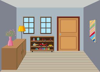Interior of room background