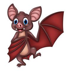 Cartoon funny bat posing
