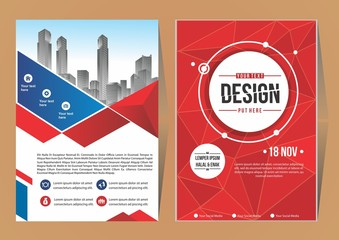 Business Brochure Background Design Template, Flyer Layout, Poster, Magazine, Annual Report, Book, Booklet with building image.Size A4 Vector illustration