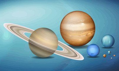Planets in space scence