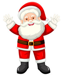 Happy santa white background