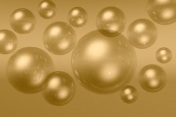 transparent flying balls