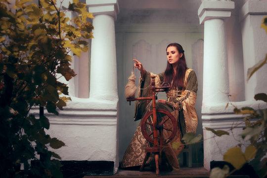 Sleeping Beauty Princess Following Cursed Destiny Fantasy Portrait