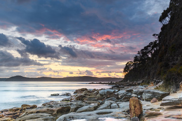 Stormy Sunrise Seascape