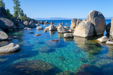 Crystalline water at Sand Harbor in Lake Tahoe