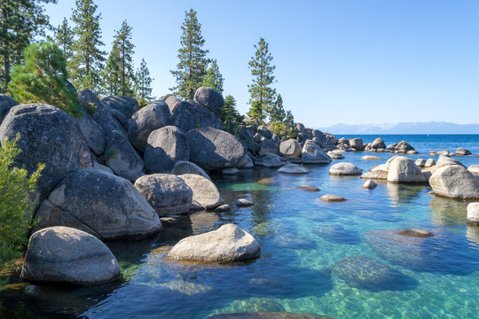 Crystalline water at Sand Harbor in Lake Tahoe