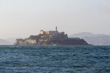 Views of Alcatraz from fishermen wharf