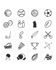 sport equipment icon set image vector icon logo symbol set