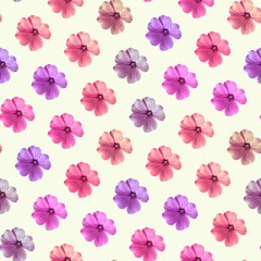 Decorative flower background. Seamless colorful pattern. Geranium.