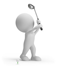 3d person with golf club