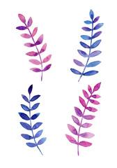 飾り用 葉っぱ 水彩イラスト