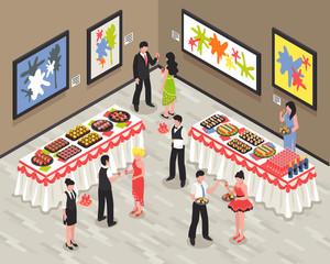 Banquet Isometric Illustration