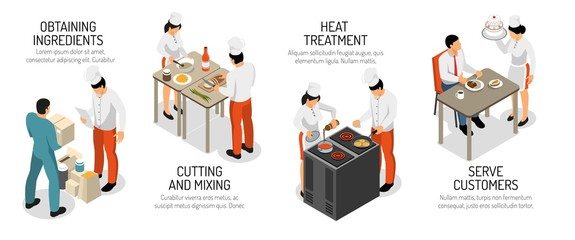 Cooking Infographic Isometric Composition