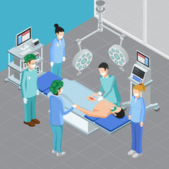 Isometric Surgery Room Composition