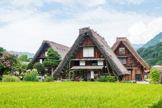 traditional Japanese village at shirakawago, Japan